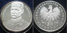 SCARCE POLAND 1990 Marszalek Pilsudski SILVER PROOF 100,000 ZLOTYCH Y# 201