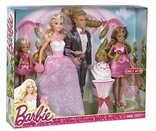 Barbie & Ken Fairytale Wedding Gift Set With Skipper & Chelsea NIB #CHG38