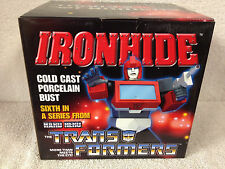 "IRONHIDE Transformers HARD HERO Porcelain 6"" Cold cast Bust  SER# 3277"