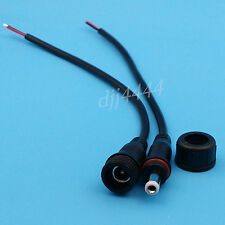 1Pairs Waterproof Black DC Power Female And Male 2Pin 22AWG Cable Connector