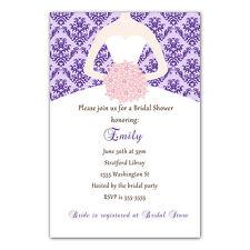 30 Damask Invitation Cards Purple Pink Dress Bridal Shower Invites Personalized