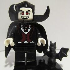 LEGO minifigure series 2 VAMPIRE DRACULA 8684 with little bat TRACKED