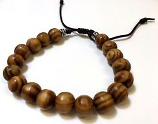 Shamballa Jewelry Rope Wood Beaded Bracelet for Men and Women. Adjustable 7