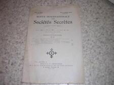 1929.revue internationale des sociétés secrètes.N°15.Oswald Wirth