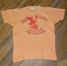 RaRe *1978 THE ROLLING STONES* vtg rock concert shirt (M)Buffalo 70s Mick Jagger