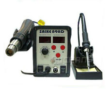 Tool SMD IRON Hot  Air Gun 2in1 Soldering Desoldering Station SAIKE 898D