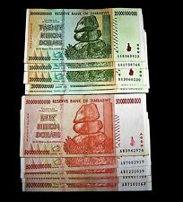 10 x Zimbabwe-5 x 20 & 5 x 50 Billion Dollars-paper money currency