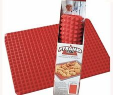 NEW Pyramid Pan Silicone Kitchen Baking Mat For Healthy Cooking Non Stick Red LG