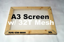 Large A3 screen printing frame with 32T mesh (80T US) - screenprinting silk