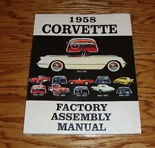 1958 Chevrolet Corvette Factory Assembly Manual 58 Chevy