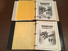Lot of 2 Vintage 1980's ALFA-ROMEO Dealer Parts & Maintenance Catalogs Manuals