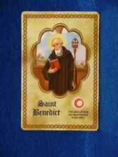 St Benedict  3rd class relic card