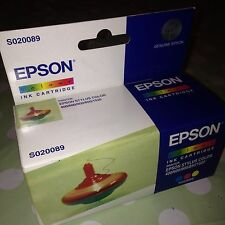 ORIGINAL EPSON Colour Print INK Cartridge Printer STYLUS 400 Etc S020089 New