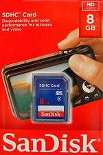 Sandisk 8gb sd sdhc Class 4 carte mémoire sdsdb - 008g-b35 neuf emballage d'origine