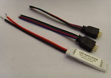 Mini RGB LED Strip Streifen Verstärker Ampilifer 12V 6A + 4pin Adapterstecker