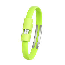 Portable USB To USB Cable Bracelet Charger Data Sync Cord Wristband Charging