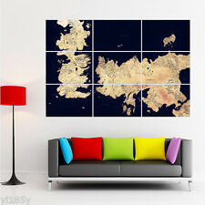 Game of Thrones Map Poster Giant Large Wall Art Huge Decor