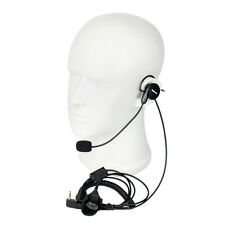 2-Pin stanghetta Mic Finger PTT Headset for Kenwood BAOFENG UV-5R 888s Radios