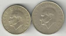 2 DIFFERENT COINS from TURKEY - 10000 & 25000 LIRA (BOTH DATING 1996)