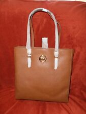 MICHAEL KORS JET SET TRAVEL LEATHER LUGGAGE LARGE TOTE BAG TAN NWT