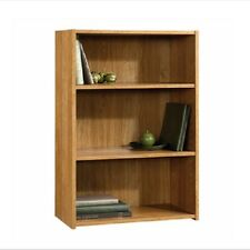 Sauder Beginnings 3 Shelf Wood Bookcase Bookshelf Oak Book Case Shelf Furniture