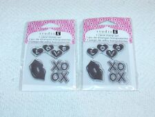 2 PACKS UN MOUNTED CLEAR RUBBER STAMP - LOVE LIPS & XOXO