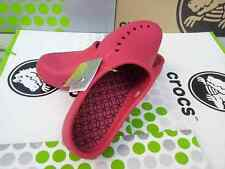 CROCS TULLY WRAPPED CLOG FLAT SANDAL MARY JANE SLIP ON NURSE SHOE~Red~W11~NWT