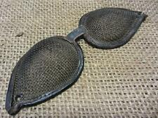 Vintage Leather & Wire Mesh Goggles   Antique Steampunk Rare Design 8167