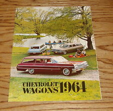 Original 1964 Chevrolet Station Wagon Sales Brochure 64 Chevy Chevelle Impala