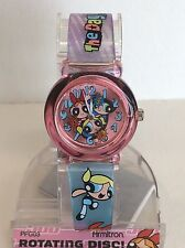 Childrens PowerPuff Girls Watch With Rotating Disc-Collector watch