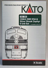 KATO N SCALE CB&Q EMD E5A SILVER STREAK ZEPHYR Engine Car Set diesel 106-090 NEW