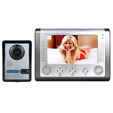 "7"" LCD Wired Video Door Phone Doorbell Security Intercom IR CCTV Camera Monitor"