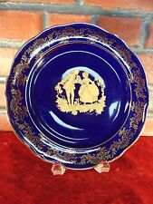 RARE Vintage LIMOGES IMPERIAL Imperia PLATE Deep Cobalt Blue STUNNING 1950s/60s