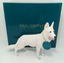Leonardo Collection White Alsation German Shepherd Dog Ornament Figure Figurine