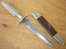 SUPERB ROYAL CUSTOM DAGGER BOOT KNIFE J.RODGERS & SONS SHEFFIELD SILVER HANDLE +
