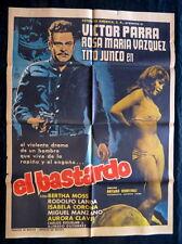 """""""EL BASTARDO"""" VICTOR PARA ROSA MARIA VAZQUEZ SEXY MEXICAN MOVIE POSTER 1968"""
