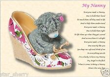 MY NANNY  personalised poem (Laminated Gift)