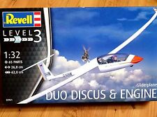 Revell 1:32 Duo Discus & Engine Glider Aircraft Model Kit