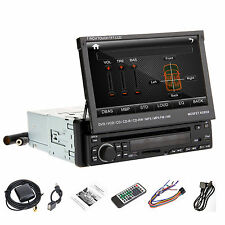 "Anti-Thief HD 7"" 1Din LCD Touch Screen Stereo In Deck Car DVD Player iPod RDS,BT"