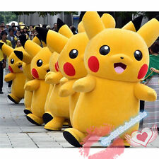 Halloween Party Pokemon Go Cosplay game Pikachu Adult Mascot Costume Brand New