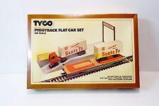 Tyco Piggyback Flat Car Set Santa Fe HO Scale MIB