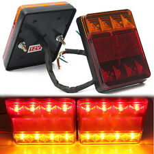 2 12V LED CAMPER RV TRUCK TRAILER STOP REAR TAIL TURN LIGHT INDICATOR WATERPROOF