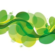 Design Team: Green Fluid Deco-Glas-Bild 20x20 Eurographics