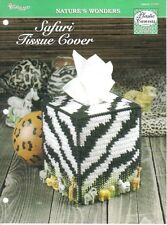 Safari Tissue Holder ~ plastic canvas pattern  ~ NEW   ~ boutique pattern