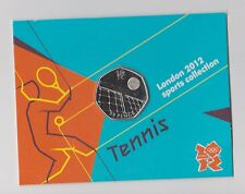 TENNIS - Rare 50p Olympic LONDON 2012 Fifty Pence Uncirculated Coin in Folder