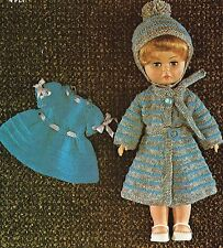 Dolls clothes knitting pattern. 14 inch doll. Laminated copy (V Doll 07)