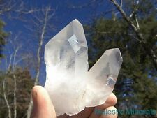 HUGE WINDOW__FROSTY LEMURIAN__LARGE CLEAR CLUSTER__Arkansas Quartz Crystal