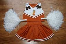 CHEERLEADER COSTUME HALLOWEEN MY LITTLE PONY OUTFIT POM POMS BOW 4 CHEER SET