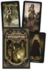 The Steampunk Tarot by Barbara Moore Cards Book (English)