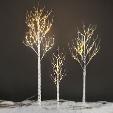 72 LED Silver Birch Twig Tree Light 1.5M/5FT Warm White Decorative Lamp for